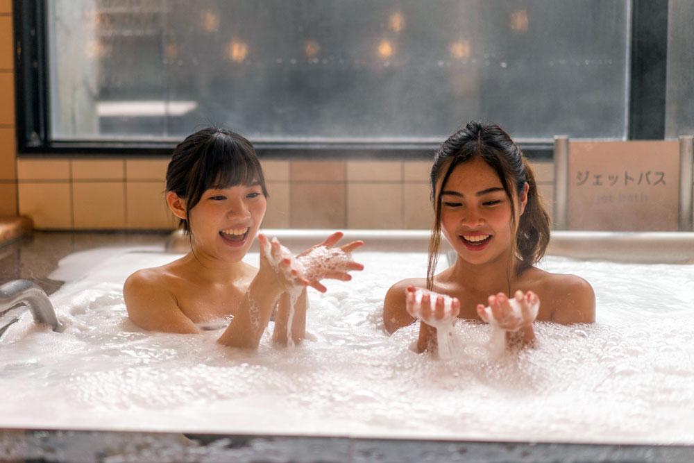 雪の泡風呂